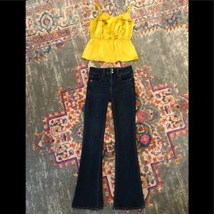 American Eagle High Waisted Flared Jeans 00S